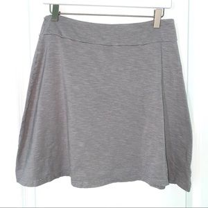 Columbia knit A-line skirt heather gray